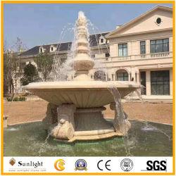 Bianco naturale/colore giallo/marmo/granito rossi/grigi che intaglia la fontana di acqua di pietra per la decorazione esterna del giardino