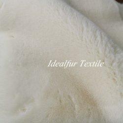 長い山ののどのウサギの毛皮ファブリックを並べる100%年のポリエステルニット