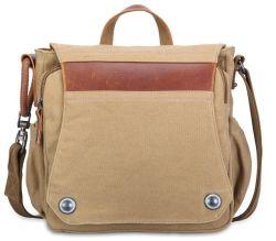 Novo Galpão de saco de ombro único homens Lona Vintage da Slant Bag Efectuar Lona Couro Messenger Pack