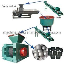 Mattonelle della sfera di carbone del carbone di legna che fanno la linea di produzione della macchina della pressa della mattonella
