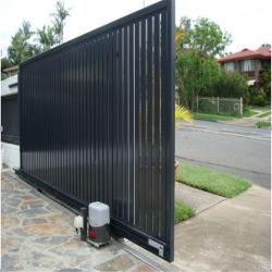 طلاء أتوماتيكى البوابة ألواح منزلقة من الألومنيوم الأسود على البوابة الرئيسية التصميمات