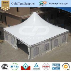 10X10m weiße Hochzeits-grosses Pagode-Zelt mit Vorhängen u. Futtern