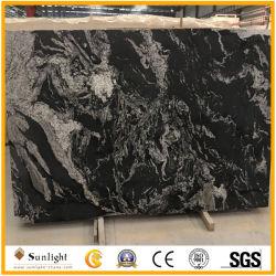 Luxo chinês preto polido Flamed Nero Fantasy Lajes de pedra de granito