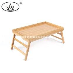 Bamboo laptop opvouwbaar bureau Tablet Bed Breakfast kleine opvouwbare tafel Voor computerbureau