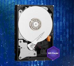 """Wd purpurrote Festplattenlaufwerk-Platte SATA III 64m der überwachung-1tb 3.5 """" HDD für DVR NVR CCTV"""