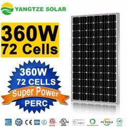 25 سنة ضمان أعلى كفاءة 360W اللوحة الكهروضوئية الشمسية أحادية اللون