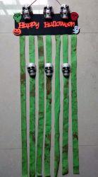Halloweenのドア・カーテン、装飾的な支柱のシミュレーションの頭骨の吊り下げ式の幻影のヘッドハングの装飾