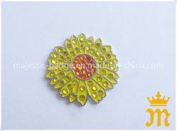 Sun Flower & Rhinestone & Marcador de uma bola de golfe