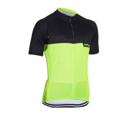 Le cyclisme Maillot manches courtes de l'humidité des écoulements de Polyester de vêtements de vélo
