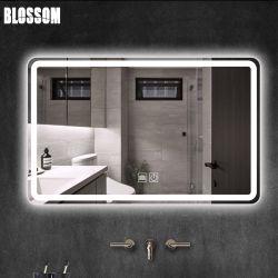 Specchio di vetro astuto della parete della stanza da bagno della mobilia LED di vanità con gli indicatori luminosi
