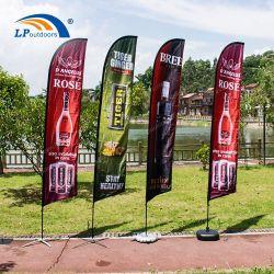 Outdoor Custom Promotional Feather Flying Flag Banner voor Adversting Display Evenementen