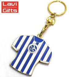 الجملة رخيصة معدن مخصص لينة المينا كرة القدم جيرسي مفاتيح السلاسل