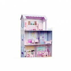 실내 아이들 교육 장난감 나무로 되는 인형 집