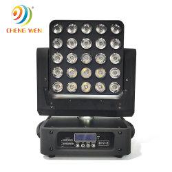 25pcs stade LED RGBW Déplacement de la matrice de la tête de la lumière avec le vol