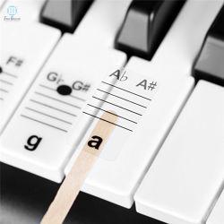 Обучение пианино белого цвета кнопки и клавиатура музыкальной ноты наклейку