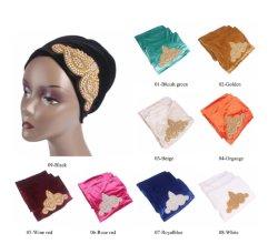 Turban Headtie de velours de mode pour les femmes