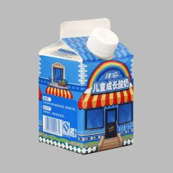 우유 및 주스 500ml와 1000ml를 위한 Gable 탑 박스