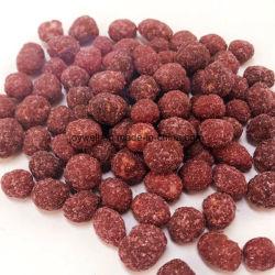 Purpurrote Kartoffel beschichtete gebratene Erdnuss-Imbiss-Nahrung Halal