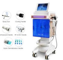 Hydra oxígeno ultrasónico de RF Martillo frío 5en1 Belleza multifunción la máquina para el cuidado de la piel