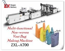 T-Shirt Non-Woven automatique SAC SAC W-Cut Making Machine avec une haute qualité