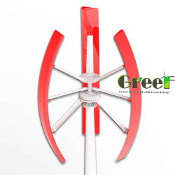 2kw fase 3 AC Home sobre el uso de la red Aerogenerador vertical con el disco del rotor exterior Coreless generador de accionamiento directo