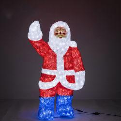 Le père noël santa claus Kriss Kringle la modélisation de forme pour la décoration lumineuse à LED