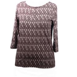 2021명의 여자의 단단한 색깔 짧은 소매 상단 숙녀 Summer Casual Blouse를 인쇄하는 둥근 목 t-셔츠