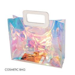 防水ホログラフィック女性女の子旅行浜党ショッピング構成の装飾的な昇進のギフトPVC明確な方法女性袋