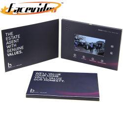 Facevideo personalizar la voz de LED de 7 pulgadas de la tarjeta de regalo Mailers Saludo Crad Folleto Digital de Vídeo para la Promoción de Negocios de Navidad
