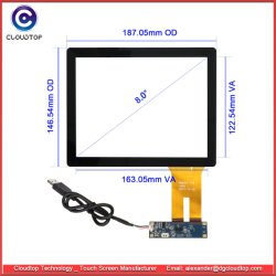 8容量性タッチ画面のためのインチITOセンサーガラス