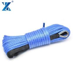 Синий 6мм*100м 12жил в условиях бездорожья UHMWPE веревки трос лебедки с проходную изолирующую втулку