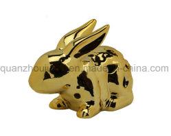 Elettroplaccatura Decorativa Oem Ceramic Animal Rabbit Craft