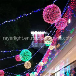 Décoration extérieure pour ornement lumineux à LED de lumière à billes