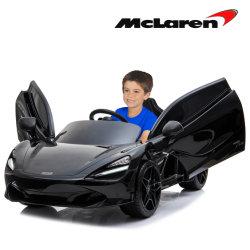 McLaren 720 s12V Black Ride on Car con telecomando, sedile in pelle