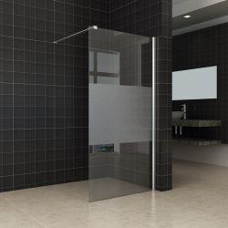 Sala de banho de chuveiro em vidro fosco em liga de alumínio, vidro de porta