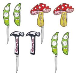 En acier inoxydable personnalisé Mini Couteau de poche de pliage touche la bague sous forme de trousseau de clés outil polyvalent de pliage de lame de couteau de camp en plein air