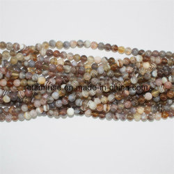 Golfo Pérsico Botswana Natural Crystal Striped Agate Bead Ball