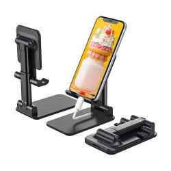 タブレットのパソコンの電話ホールダーのためのスマートな電話ユニバーサル携帯電話の立場のホールダーの調節可能なFoldableデスクトップのホールダー