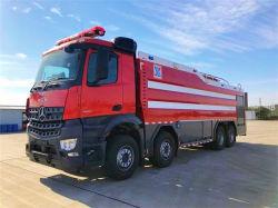 Mercedes Benz 6X4 소방차 12000L 폼 소방 트럭 폼 탱커 워터 및 폼 하이브리드 파우더 소방차 명령 및 통신 소방 차량 트럭