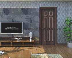 تصميم جديد جيد الجودة باب من الزجاج الفبرجي مع التصميم الخارجي من خشب الجرين باب مصبوب مع قلب لوح مصنف للحريق