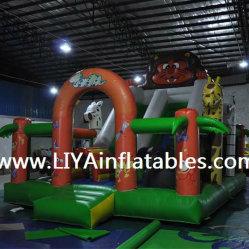 Lion produits gonflables avec Bouncer diapositive (LY06153)
