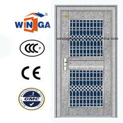 Entrée en verre en acier inoxydable 304 extérieure de porte de sécurité (W-GH-11)