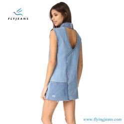 方法女性の美しいジャンプスーツの100%年の綿のデニムの小型服