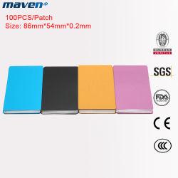 Acero Inoxidable Aluminio Metal ligero de la placa de la tarjeta de marcado láser