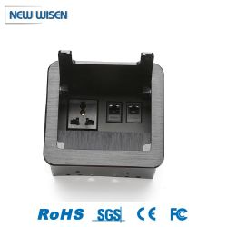 Ordinateur de bureau de gestion des fils escamotables brosse le tableau Socket Prise de montage