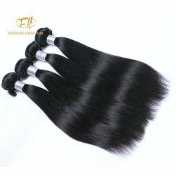 100% Remy/Virgen cabello sedoso Cabello Humano de Brasil Negro Natural/1b Color