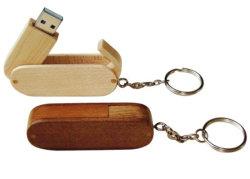 Neues Modell Holz USB Disk mit Schlüsselanhänger