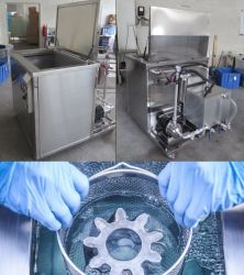 نظام فلتر زيت منظف الحمام بالموجات فوق الصوتية اختياري لأجزاء السيارة، تنظيف كتلة المحرك