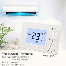 ファンコイルの単位のためのデジタルACサーモスタットを冷却する壁のエアコンの室温のコントローラの暖房