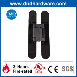 Porta preta Acessórios de hardware 3D para Serviço Pesado Ajustável Ocultou a dobradiça da porta invisível